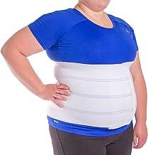 BraceAbility 4XL Plus Size Bariatric Abdominal Stomach Binder | Obesity Girdle Belt for Big Men & Women with a Large Belly, Post Surgery Tummy & Waist Compression Wrap