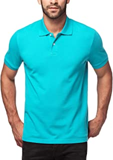 LAPASA Polo para Hombre de Manga Corta Camiseta Casual 100% Puro Algodón (Color Gris: 90% Algodón, 10% Viscosa) M19