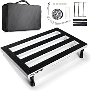 Vangoa Guitar Pedal Board, White Aluminum Pedal Board for Guitar with Bag, 19.8