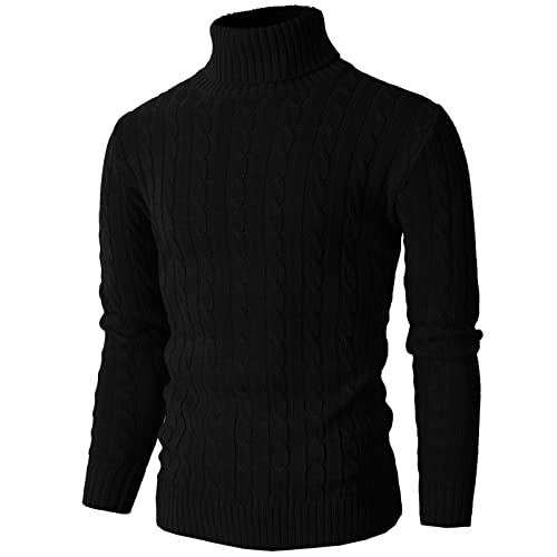 da6b08ea8b324e H2H Mens Casual Slim Fit Pullover Sweaters Knitted Turtleneck Long Sleeve  Twisted