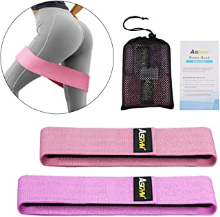 Asgym Resistance Bands for Legs and Butt, Fabric Booty Bands for Women Men Exercise, Heavy Thick Cloth Squat Band Circle Workout Activate Glute and Thighs