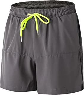 AIEOE Men's Shorts Jersey Shorts Lightweight Drawstring Elastic Waist Shorts for Sports with Pocket