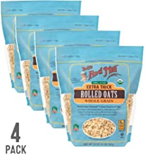 Bob's Red Mill Resealable Organic Extra Thick Rolled Oats, 32 Ounce (Pack of 4)