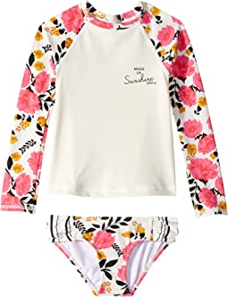 Sun Dream Long Sleeve Rashguard Set (Little Kids/Big Kids)