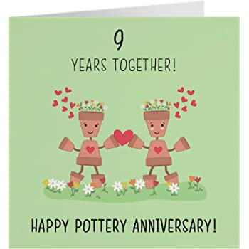 10th Wedding Anniversary Card - Pottery Anniversary - Iconic Collection