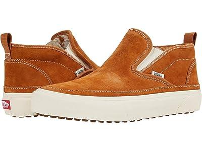 Vans Mid Slip SF MTE ((Suede) Pumpkin Spice/Antique White) Skate Shoes