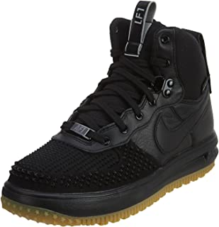 Kid's Lunar Force 1 Duckboot (GS) (Black/Black-Metalic Silver, 7Y)