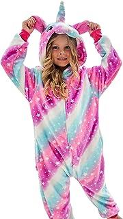 Pijama enteriza de unicornio, disfraz de unicornio para niñ