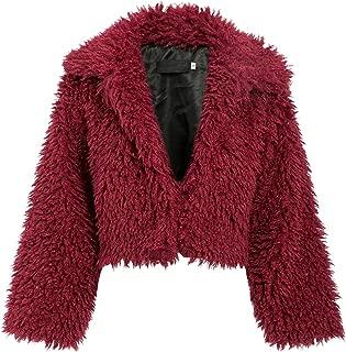 BerryGo Women's Short Faux Fur Coat Outwear Fluffy Shaggy Jacket Warm Coat