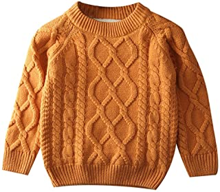 LOSORN ZPY Toddler Baby Boy Girl Cable Knit Pullover Sweater Cotton Lined Warm Sweatshirt