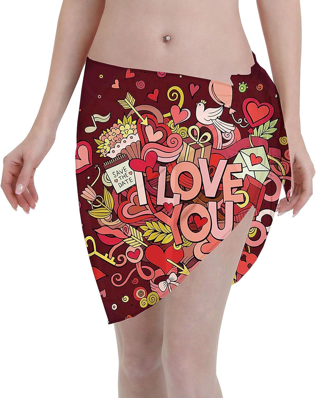 niBBuns Women's Sarongs Beach Wrap Swimwear Bikini Cover Up Swim Skirts Swimdress