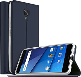 BLU VIVO 8 case, KuGi BLU VIVO 8 case, ultra-thin BW style PU Cover + TPU Back stand Case For BLU VIVO 8 smartphone (Navy)