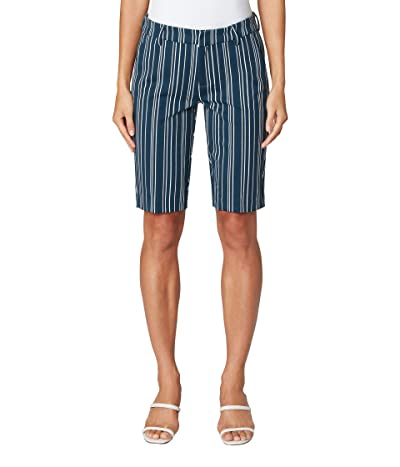 Liverpool Kelsey Bermuda Trouser Shorts (Dark Harbor Navy Abstract Stripe) Women