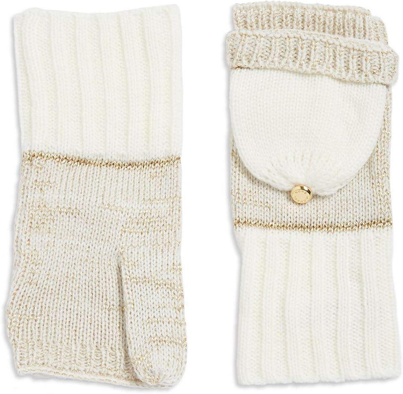MICHAEL Michael Kors Convertible Knit Pop-Top Mittens Womsns' O/S