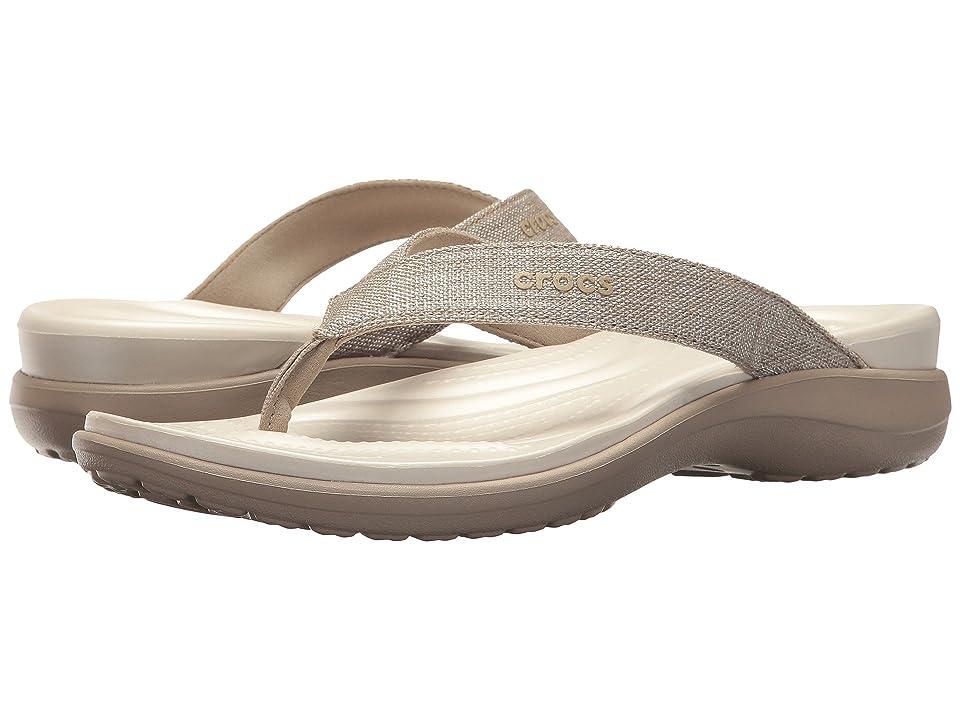 Crocs Capri V Shimmer Flip (Cobblestone) Women
