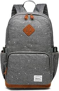 HFY Mujer Mochila Impermeable, Mochila para portátil Multiusos Daypacks 15.6 Pulgadas, para Negocio,Viaje,Escuela,Hombre Mujer Trabajo Diario (Gris)