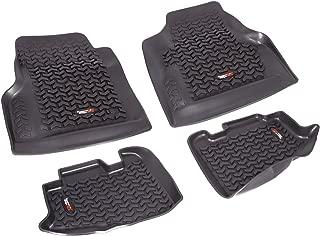 Rugged Ridge All-Terrain 12987.10 Black Front and Rear Floor Liner Kit For 1997-2006  Jeep Wrangler TJ and LJ Models
