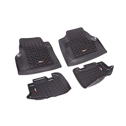 Rugged Ridge All-Terrain 12987.10 Black Front and Rear Floor Liner Kit For 1997-