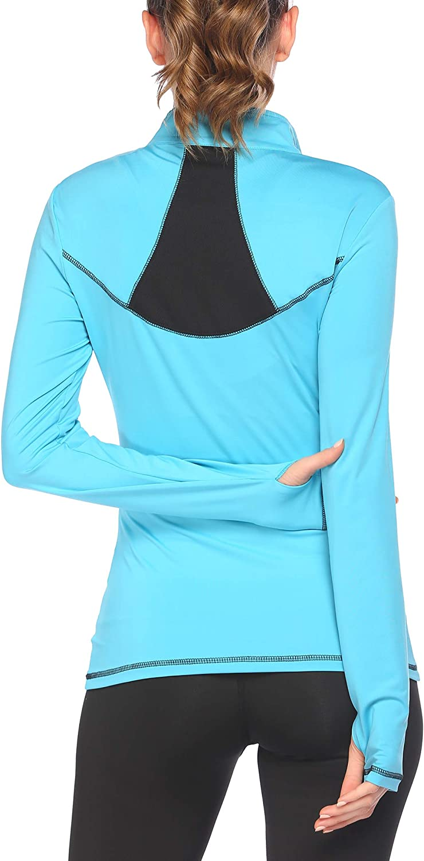 Pinspark San Jose Mall Women's Long Sleeve Stretchy Sports Thumb Hole Workout Bargain sale