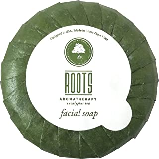 Roots Aromatherapy - Facial Soap 1oz/28g Bulk Pack (Eucalyptus Tea fragrance) for Travel, Hotels, Motels, Lodging, and Bed and Breakfast (500 pack)