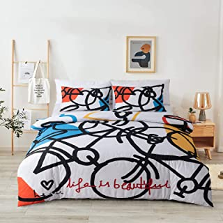 Duvet Cover Full Soft and Breathable Brushed Microfiber...