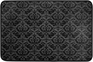 Damask Background Doormat, Entry Way Indoor Outdoor Door Rug with Non Slip Backing, (23.6 x 15.7-Inch)
