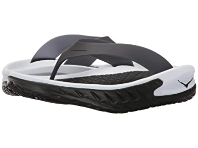 Hoka One One Ora Recovery Flip (Black/White) Men