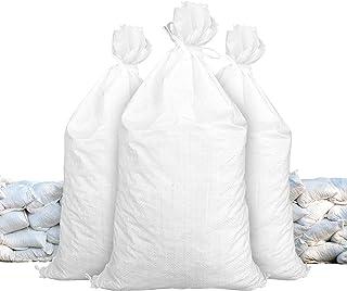 Sandbags   Size: 14' x 26'   White   Sandbags Empty   Sandbags Wholesale Bulk   Sand Bag   Flood Water Barrier   Water Curb   Tent & Store Bags by Sandbaggy (100 Bags)