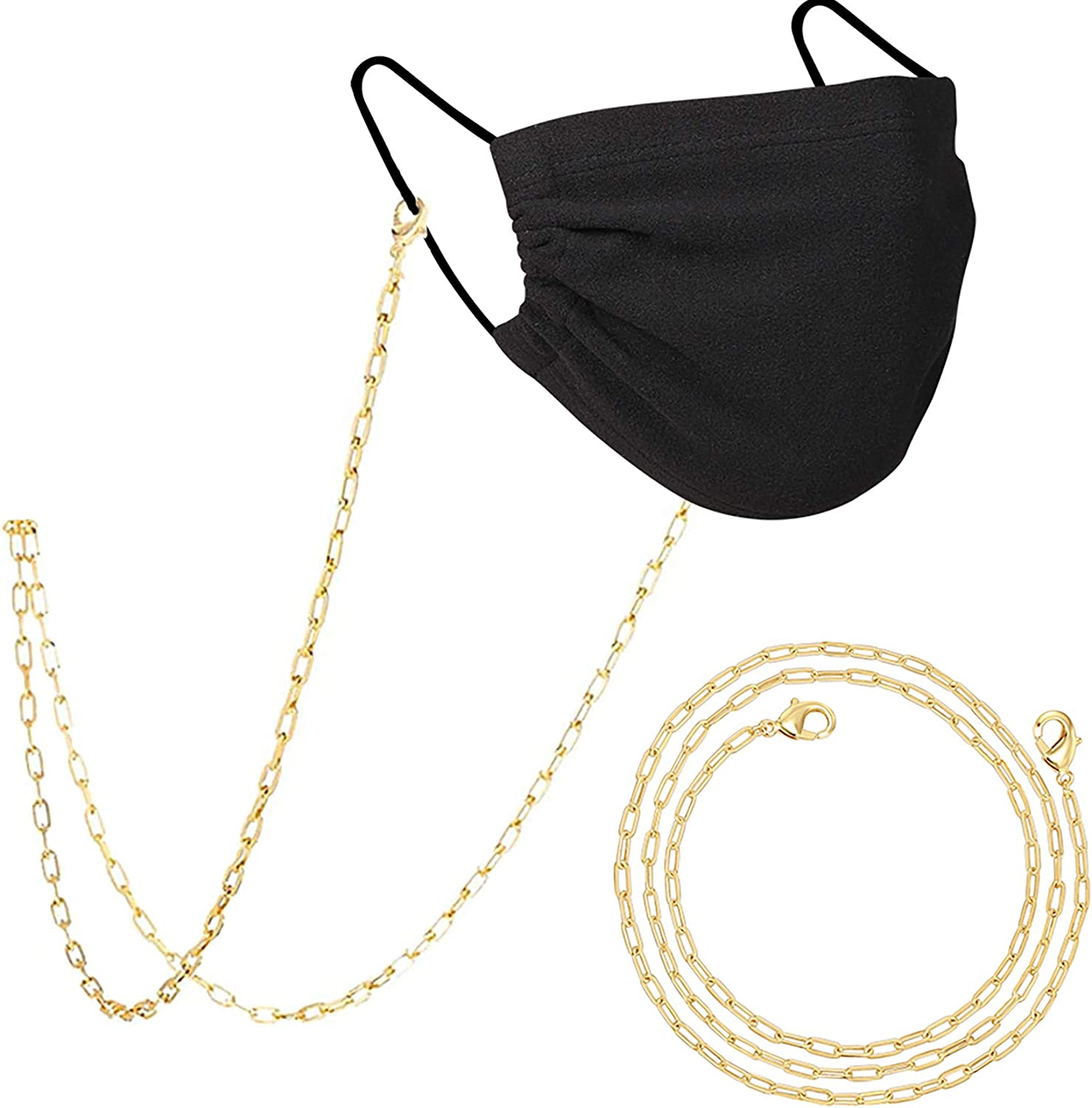 PAVOI 14K Gold Plated Mask Necklace | Strap Lanyard | Face Mask Chains for Women