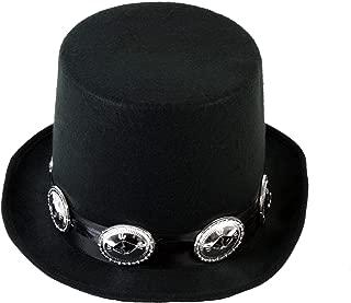 Buckled Guitar Hero Rocker Top Hat Black