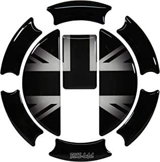 Tapa de depósito 3D 650004 Union Jack Silver para tanque Triumph.