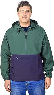 Men's Pullover Rain Jacket Hooded Windbreaker Raincoat Waterproof Lightweight