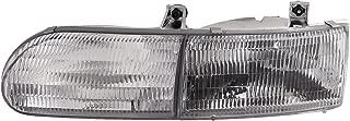 HEADLIGHTSDEPOT Chrome Housing Halogen Left Driver Headlight Compatible With Fleetwood American Tradition 1996-2000 Motorhome RV