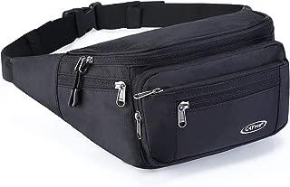 G4Free Fanny Packs Hip Waist Belt Bag Men Travel Sport Workout Outdoors Casual