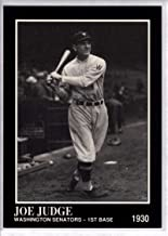 Baseball MLB 1991 Conlon Collection #68 Joe Judge NM-MT Senators