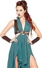 Leg Avenue Women's 4pc.Warrior Maiden,Dress,arm Cuffs,Shoulder Harness,Headpiece, Green, Large