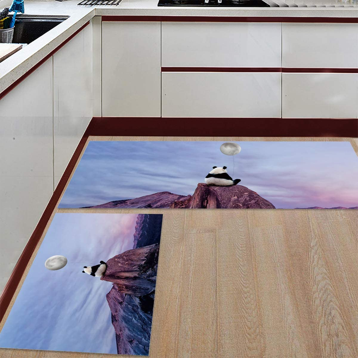 Modern Low-Profile Kitchen Mat 2 Cushioned Floor Sets PCS Same day shipping Popular overseas Soft