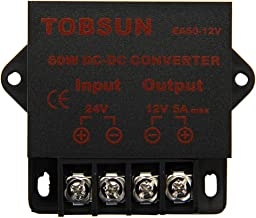 EPBOWPT DC 24V to DC 12V 5A 60W Converter Step Down Regulator Module Transformer Power Supply