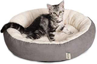 Tempcore Cat Bed for Indoor Cats, Machine Washable Cat Beds, 20 inch Pet Bed for Cats or Small Dogs,Anti-Slip & Water-Resistant Bottom