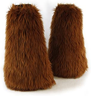 Pawstar Furry Leg Warmers Made in USA Boot Covers Fluffies