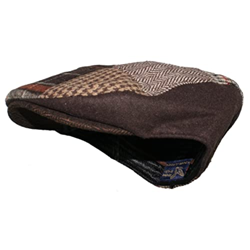 f1d80fa0 Ted and Jack Tweed Patchwork Newsboy Driving Cap with Quilted Lining