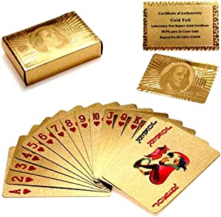 Luxurious 24K Gold Plated Playing Cards - Make Your Magic Tricks More Fun & Creative for Family & Friends