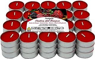 Besch Velas de té aromáticas (Frutos Rojos, 60 Velas)