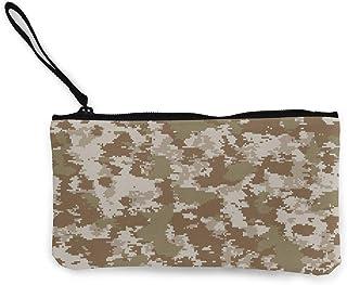 N \ A Unisex Geldbörse, Münztaschen, Segeltuch, Münzgeldbörse mit Reißverschluss, für Handy, Bargeld, Bankkarte, Reisepass, Münze, Camouflage, Militär-Armbänder, tragbare Tasche