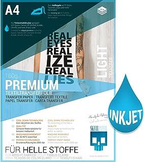 SKULLPAPER Premium película de transferencia textil para camisetas y prenda / A4 / incl. más de 200 plantillas de motivos GRATUITAS - papel transfer/para plotter de inyección de tinta (10 hojas)