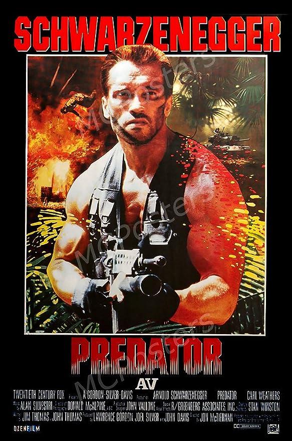 PREDATOR GUN 1987 80s ORIGINAL OFFICIAL CINEMA MOVIE PRINT PREMIUM POSTER