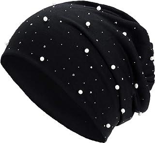 Compagno Slouch Beanie con perlas de punto transpirable, fino y ligero, unisex, gorro para mujer, estilo boho Bini para ni...