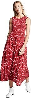 Women's Polka Dot Midi Dress