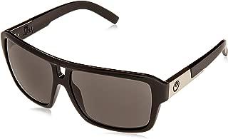 Dragon Sunglasses The Jam Large Fit Eyewear Men's Outdoor Shades w/Free B&F Heart Sticker Bundle - Jet/Grey