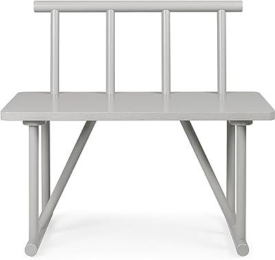 Tenzo Grain Designer Banc petit modèle, Chêne, Gris, 84x42x77 cm